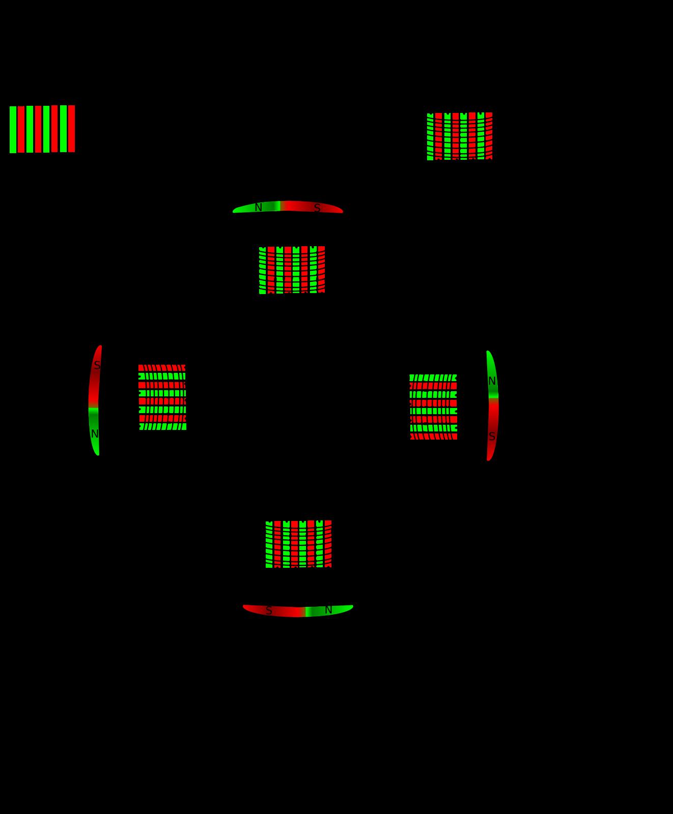 Generatorwicklung mit Kapazitäten kopplen