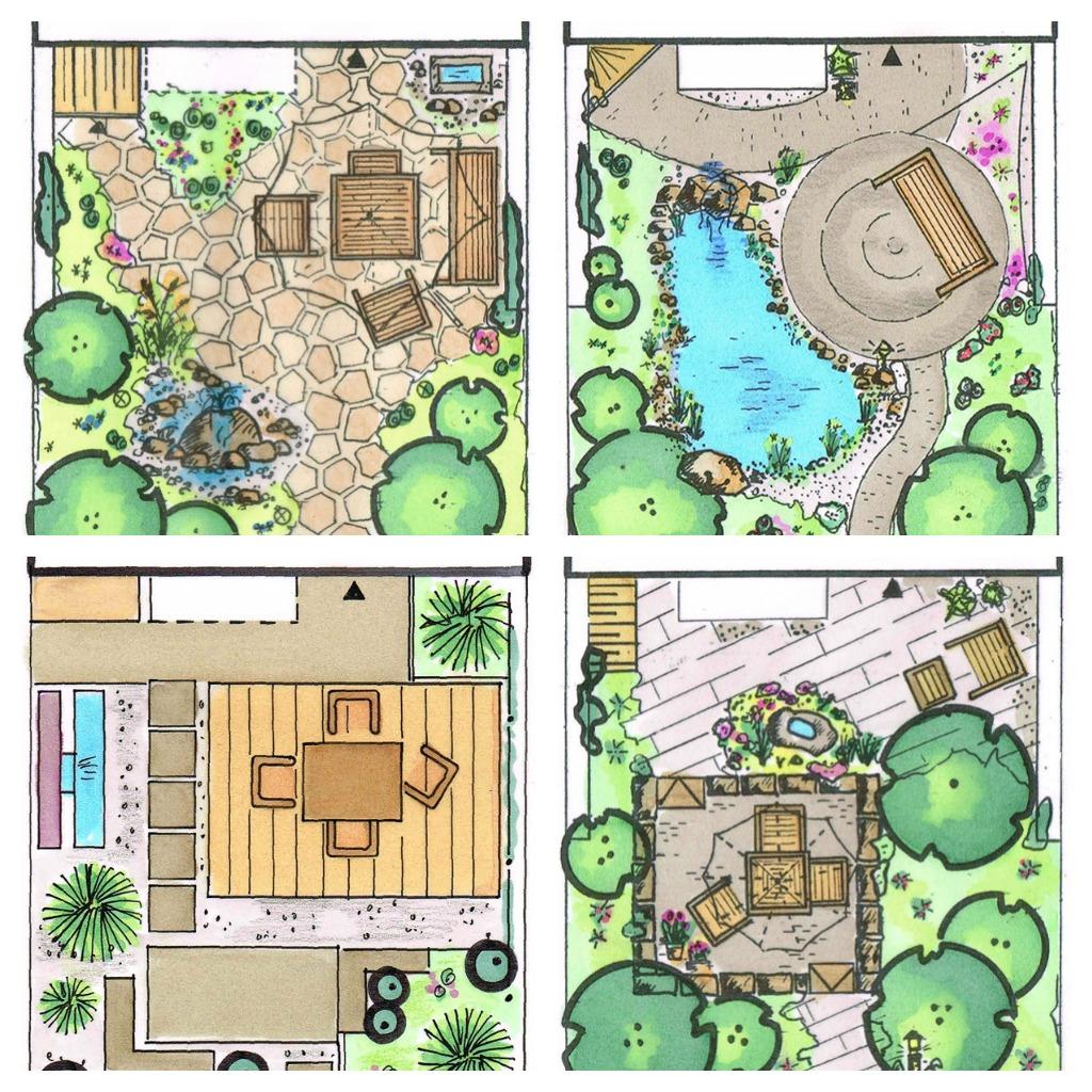 Kleiner Garten Collage