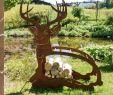 Kreative Ideen Gartendeko Holz Neu Edelrost Deko Hirsch Reh Und Kitz Im Landhausstil Kaufen