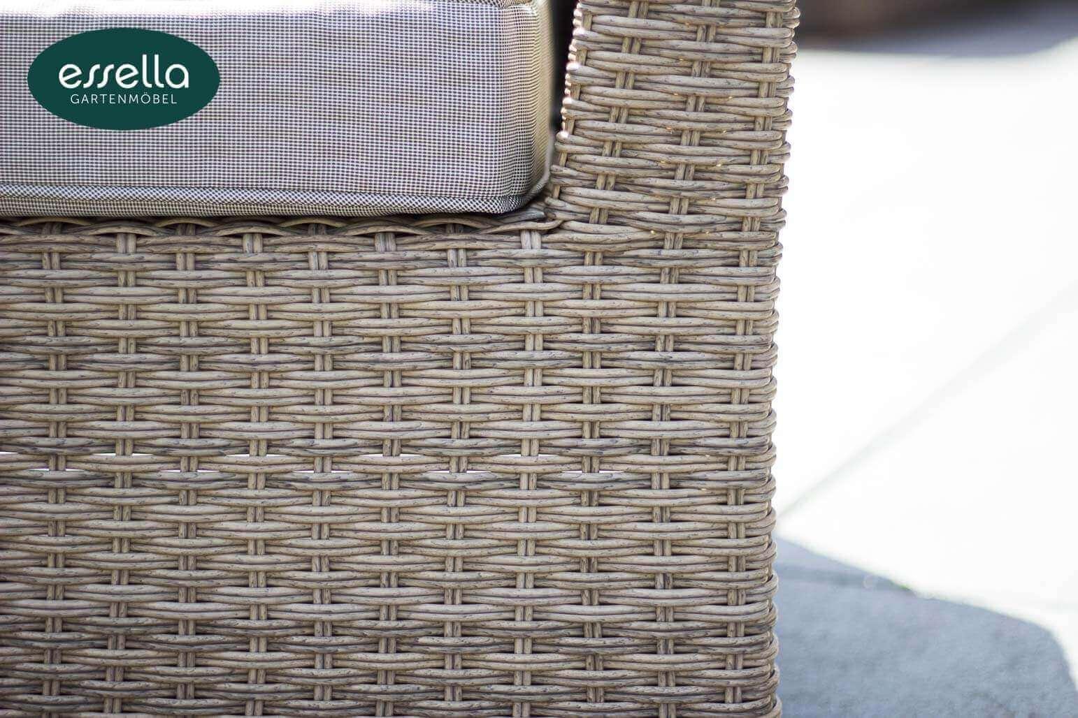 essella polyrattan loungemoebel sitzgruppe venezia hell braun halbrundgeflecht detail 01