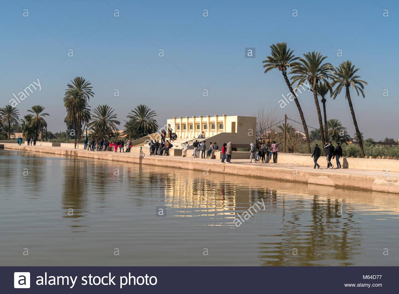 wasserbecken im menara garten marrakesch knigreich marokko afrika M64D77