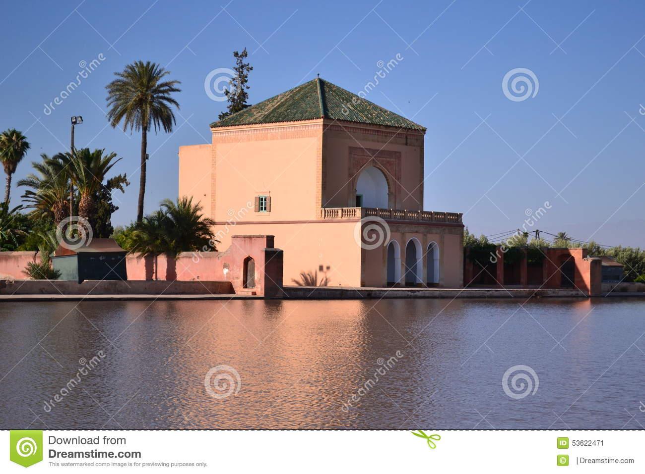 pavillion menara garden basin marrakech morocco found where have green pyramid roof menzeh