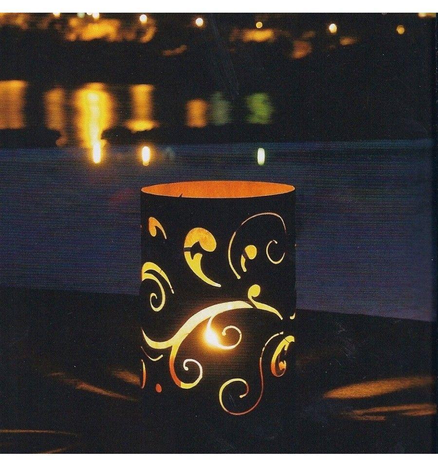 Bastelideen Weihnachten Rost Deko edelrost windlicht barock 35 cm hoch