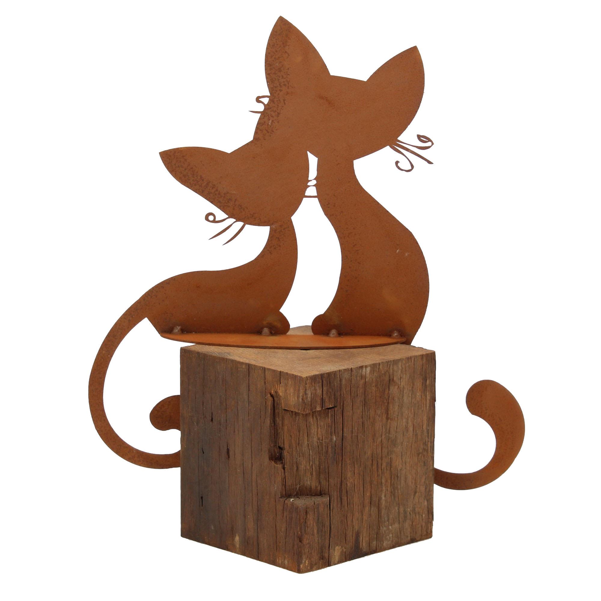 Ferrum 5 0160 Katzenpaar Kantenhocker 3