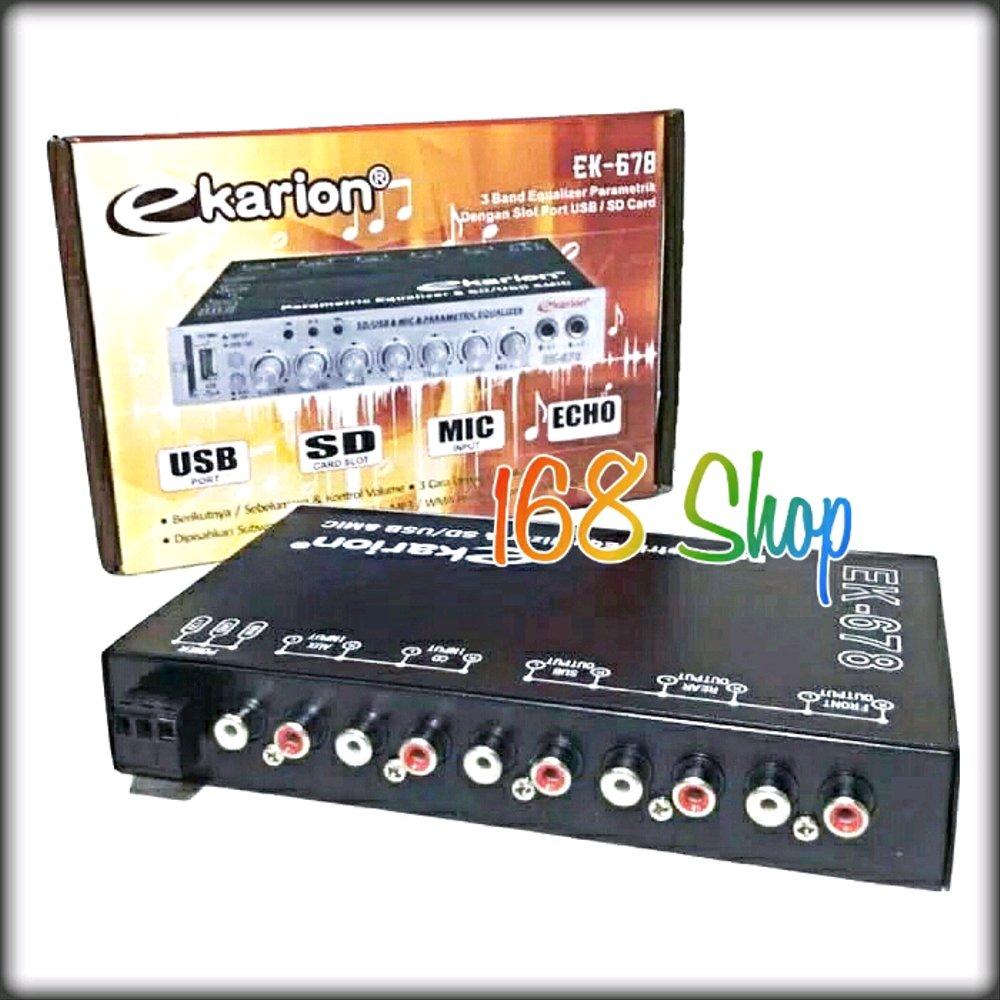 Parametrik atau Pre Amp ekarion EK 678 Usb Karaoke