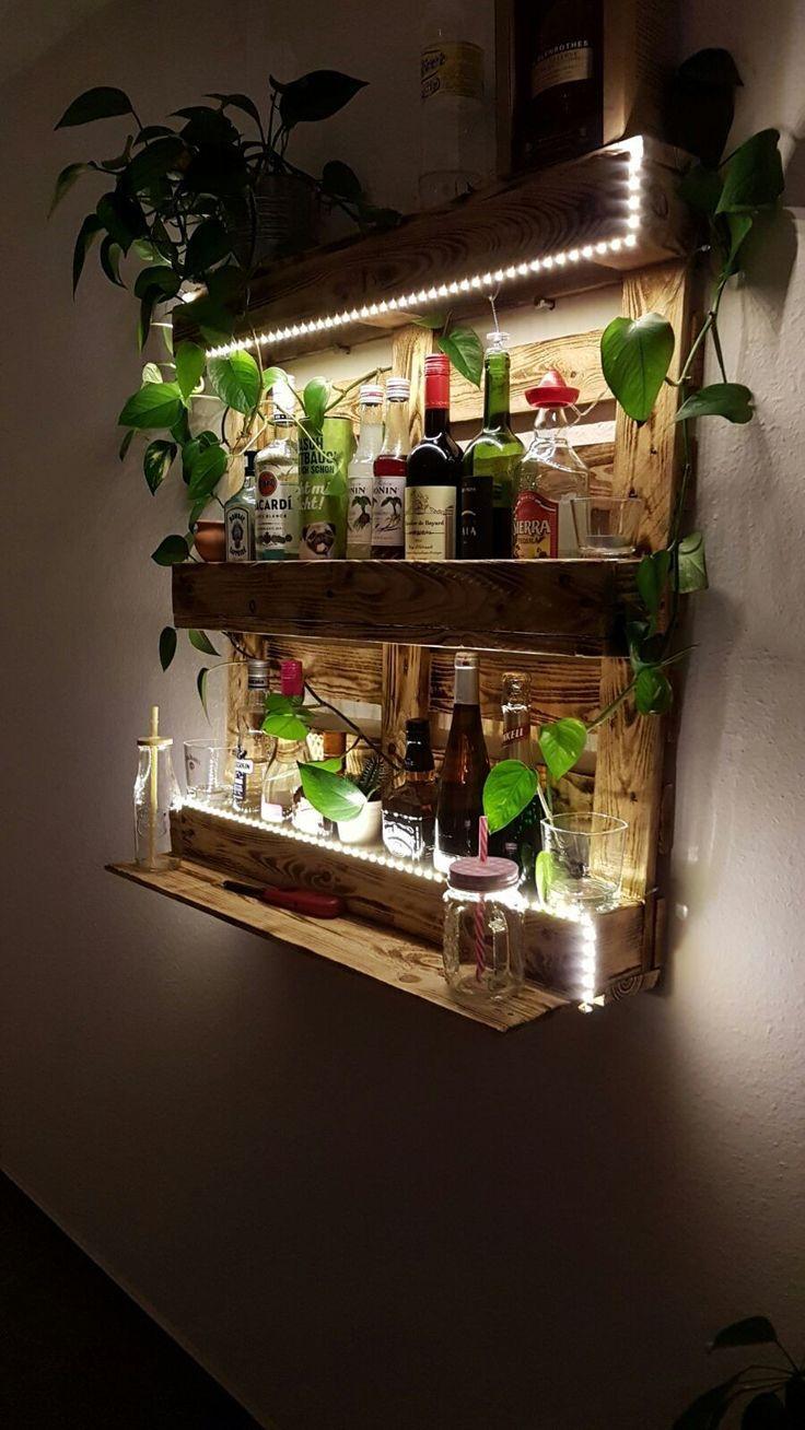 Palettenregal Garten Best Of Pallet Rack Pallet Bar with Led Lighting Wood Diy top