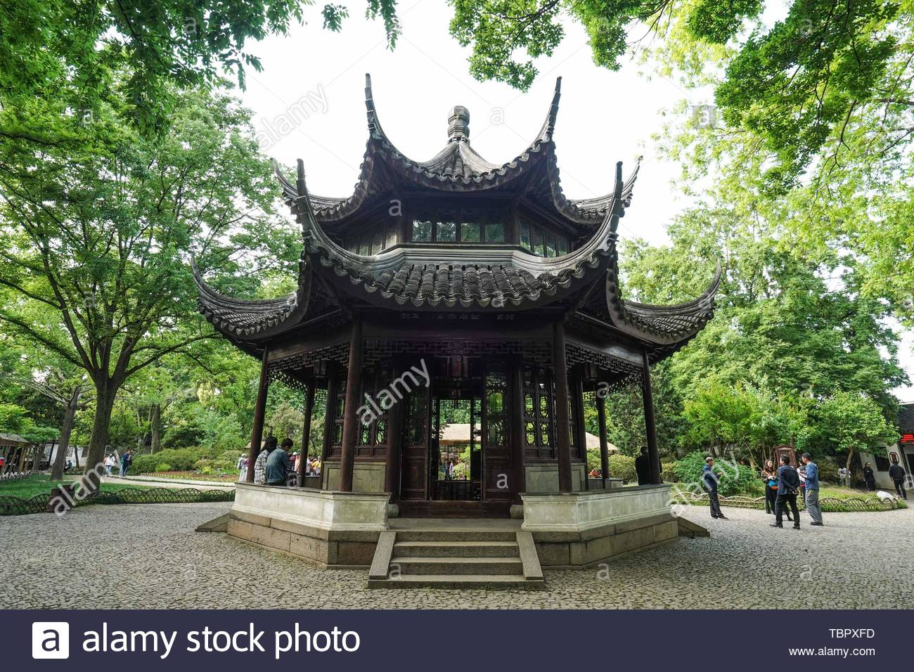 nanjing 6th may 2019 photo taken on may 6 2019 shows tianquan pavilion at humble administrators garden in suzhou east chinas jiangsu province in 1997 the classical gardens of suzhou were put on the unescos heritage list in 2018 the total number of gardens included in the suzhou garden list reached 108 and suzhou was officially transformed from the city of gardens into the city of 100 gardens credit li boxinhuaalamy live news TBPXFD