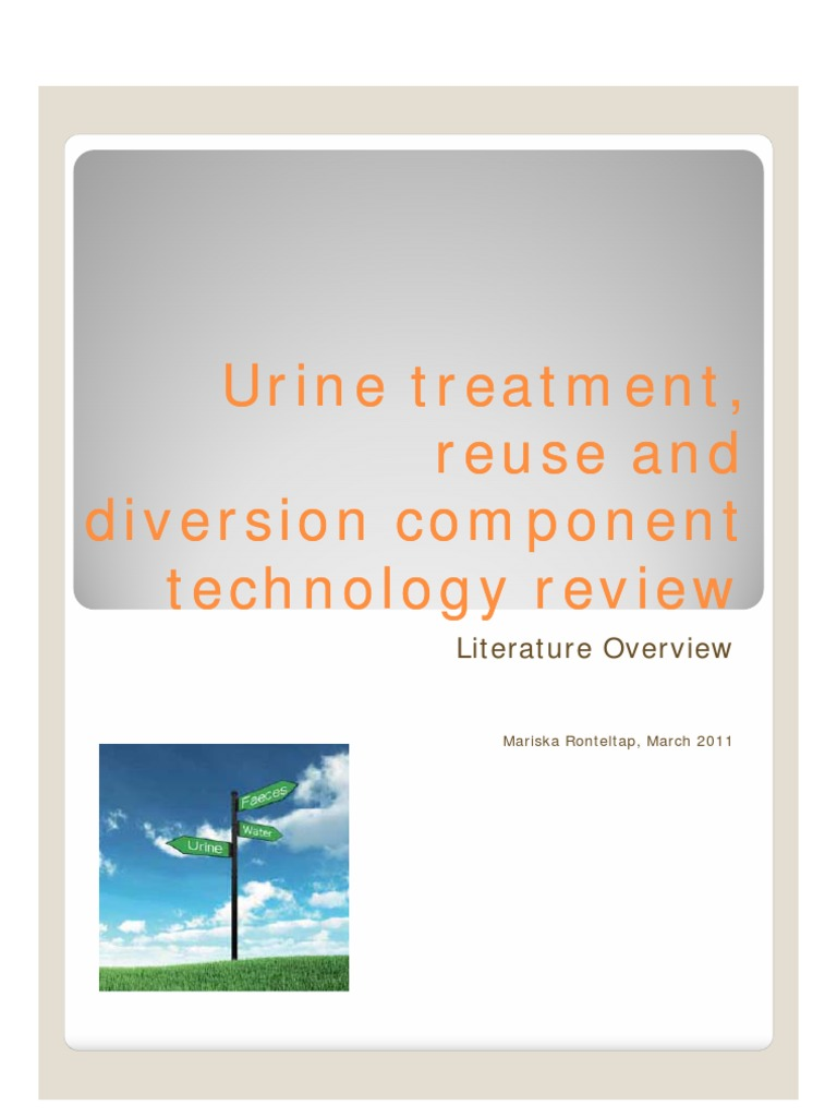 Pflanze Mit G Inspirierend Urine Treatment Reuse and Diversion Ponent Technology
