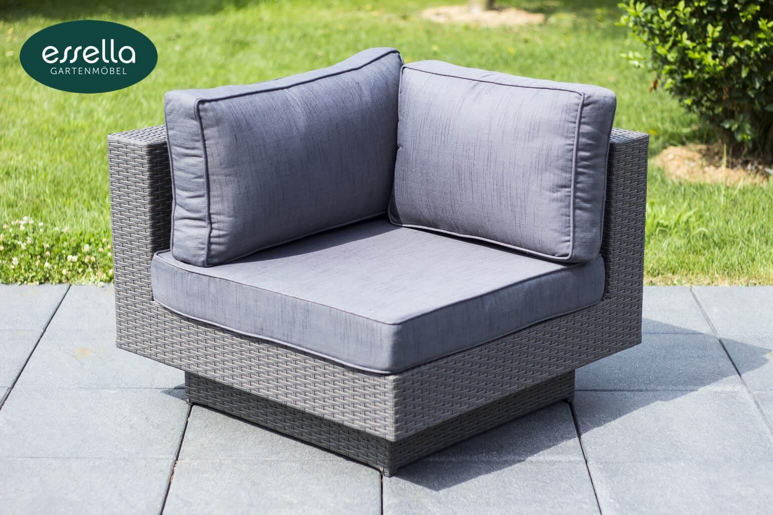 essella polyrattan loungemoebel sitzgruppe melbourne grau flachgeflecht detail 07
