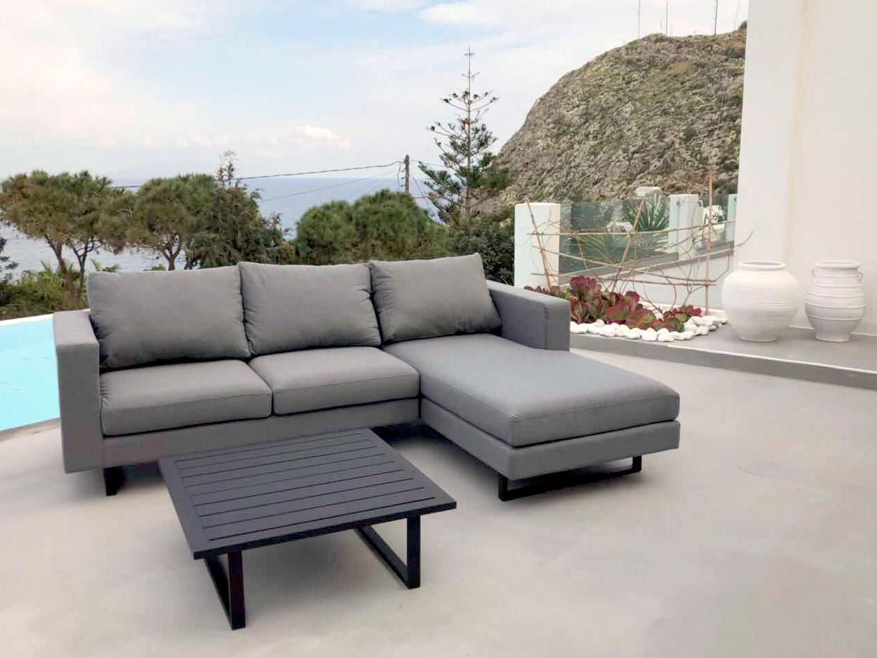 outdoor stoff lounge grau
