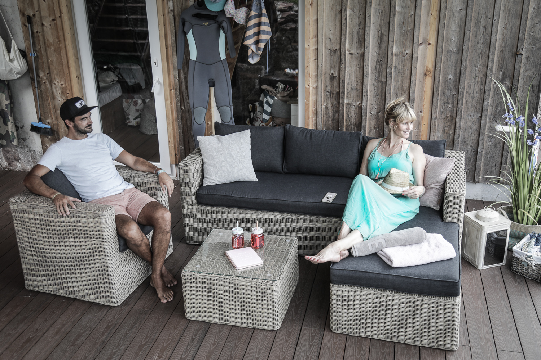 ecklounge brooklyn rattan lounge natural round
