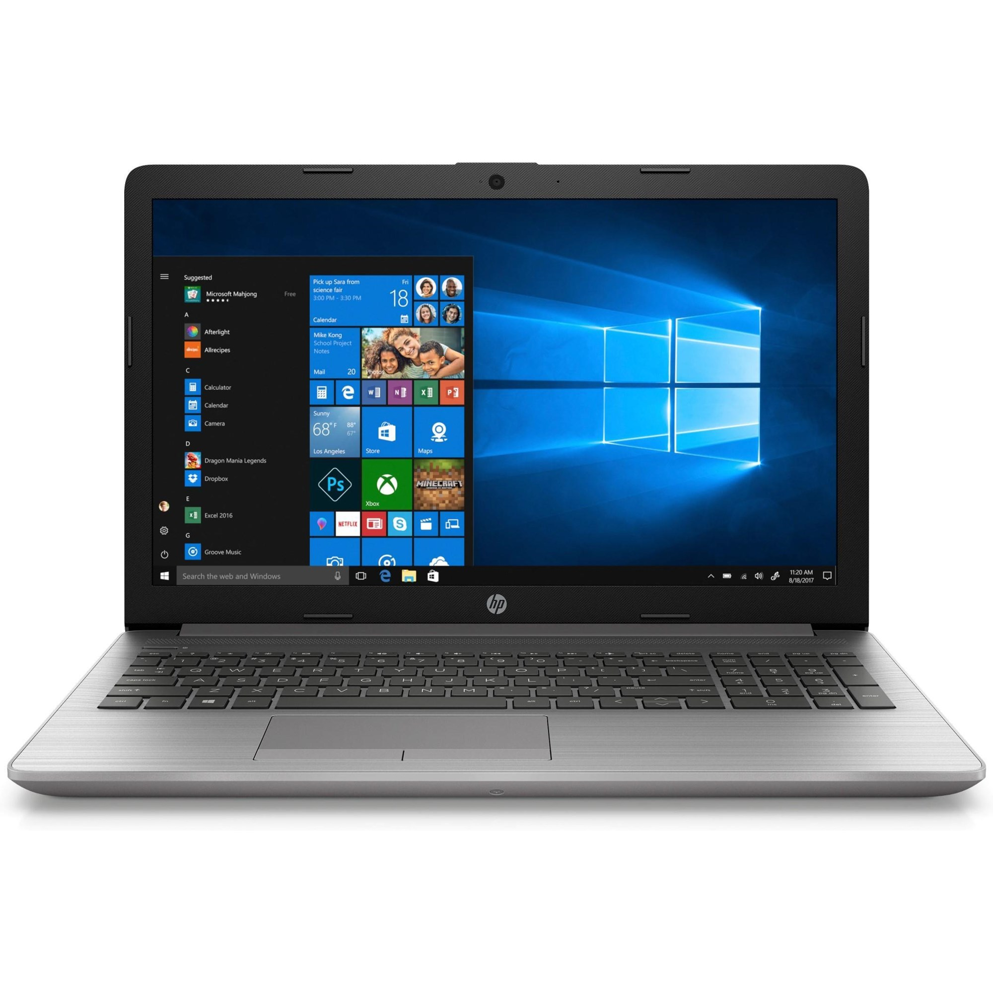 hp 250 g7 laptop 15 6 inch 1366 x 768 intel core i5 8265u 8gb 1tb hdd intel uhd 620 bluetooth microsoft windows 10 home 6bp13ea abu