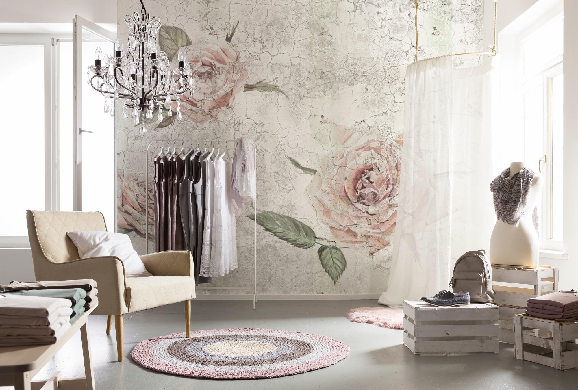 xxl4 049 fotooboi na flizelinovoy osnove komar sm rozy na freskah