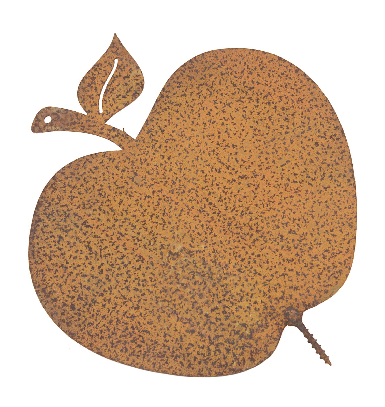 Gartendekoration Gartendeko Apfel mit Dorn Schraube Baumdeko Metall Rost Deko