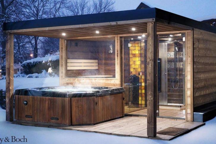 Saunahaus Garten Genial Garden Sauna House with Whirlpool