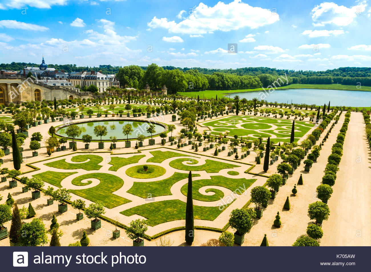 versailles france gardens of the versailles palace near paris france K705AW