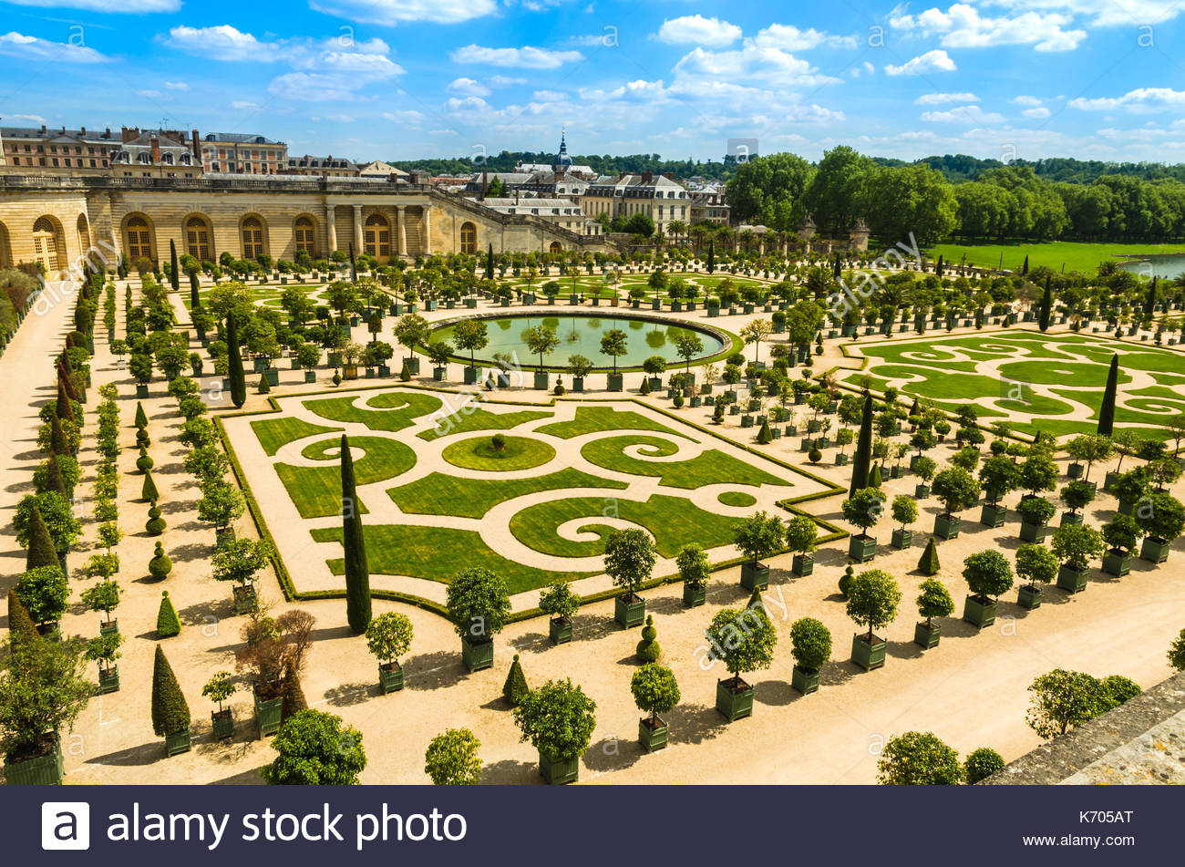 versailles france gardens of the versailles palace near paris france K705AT