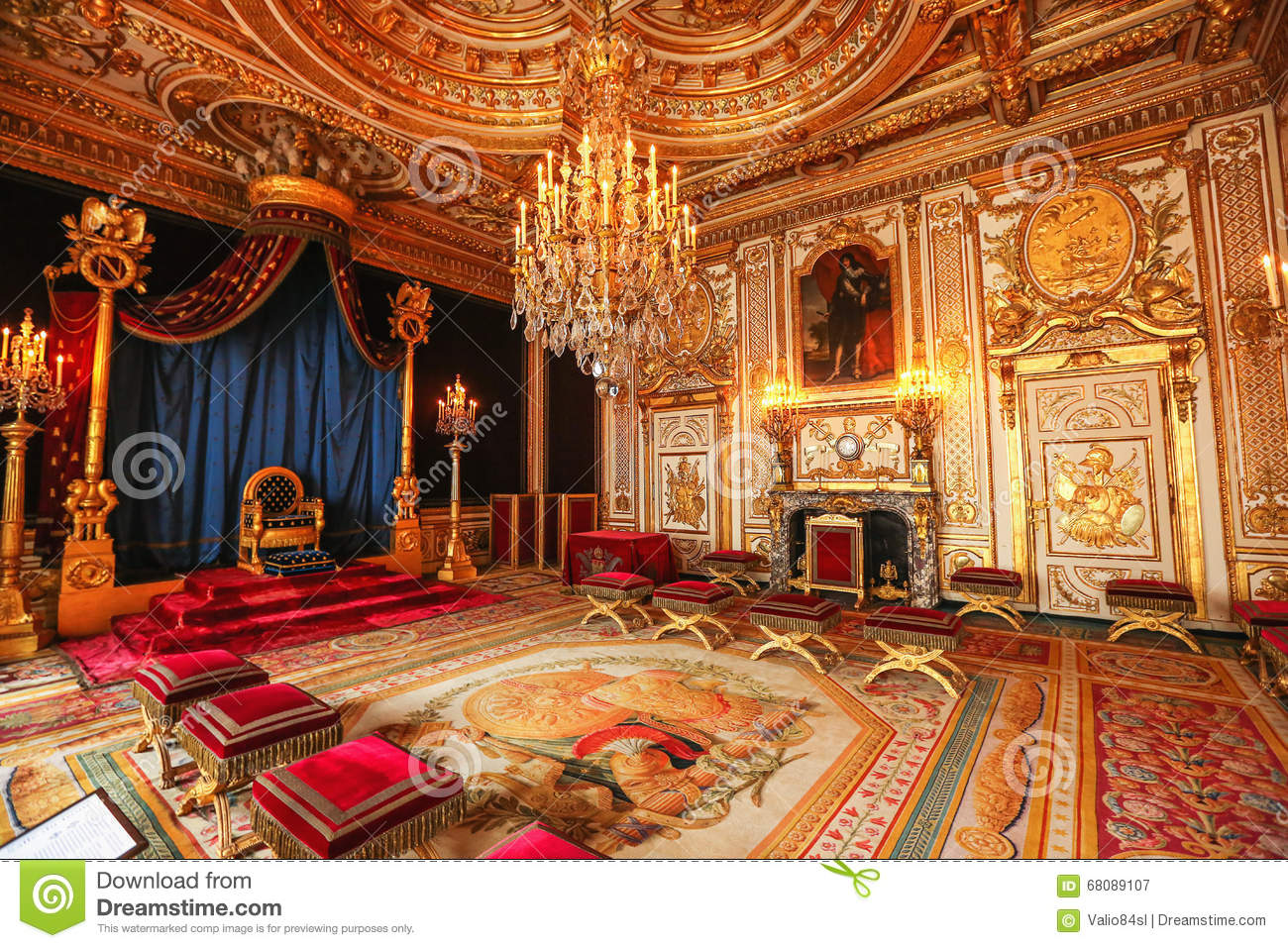 paris france versailles palace interior room