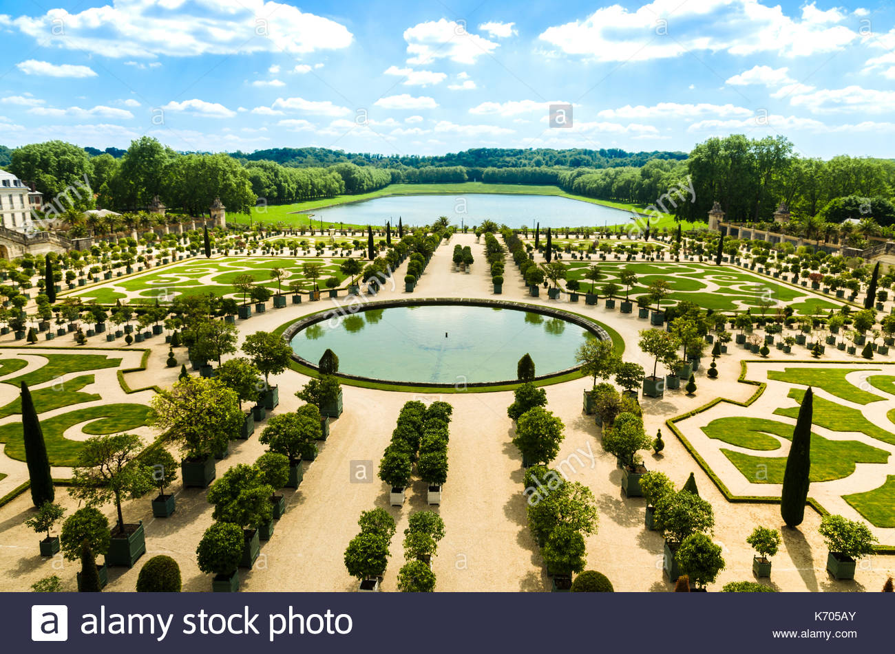 versailles france gardens of the versailles palace near paris france K705AY
