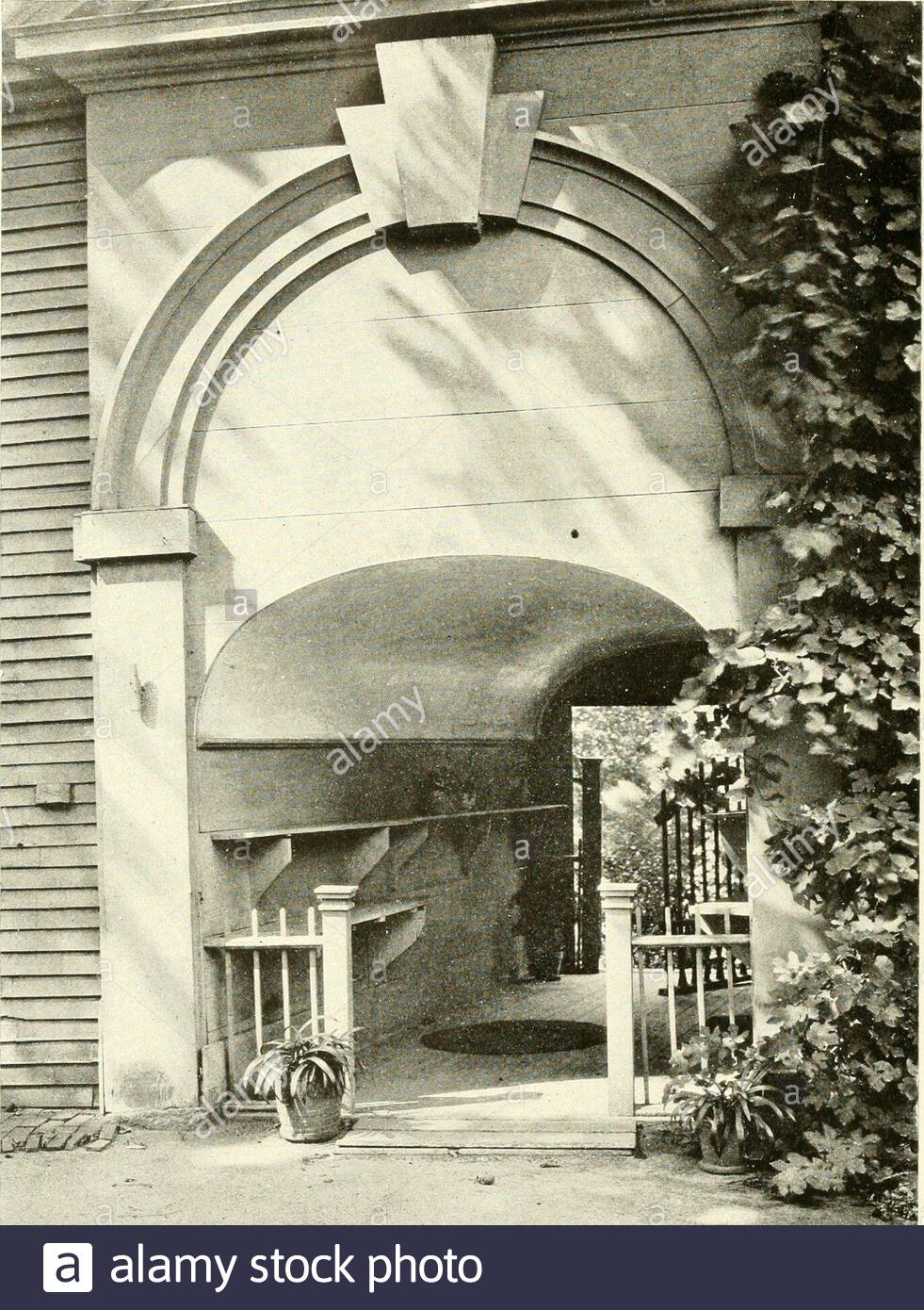 the livable house its garden a wall fountain binedwith a pool garden of mr h h rogers at tuxedo new yorkwalker and gillette architects ifc9 t h l i v a b i h o u s i i a garden entrance for whosechar m age is responsible house at so federal street salem massachusettssamuel mclntyre architect 1782 170 g a d n 2AXC3CD