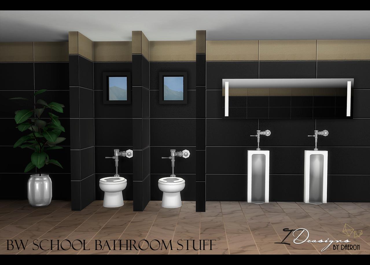 Sims 3 Design Garten Accessoires Schön Bw School toilet and Urinal New Meshes