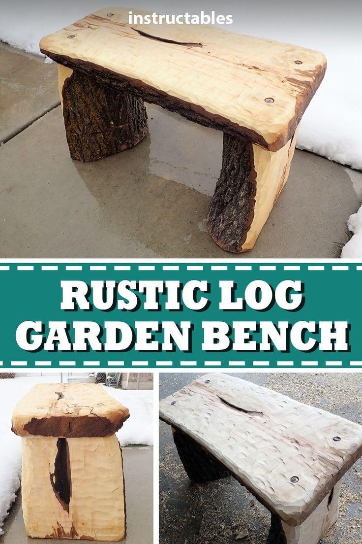 Sitzecke Garten Selber Bauen Frisch Simple Garden Bench From A Log