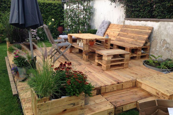 Sitzecke Garten Selber Bauen Schön Wie Baue Ich Eine Terrasse Aus Paletten