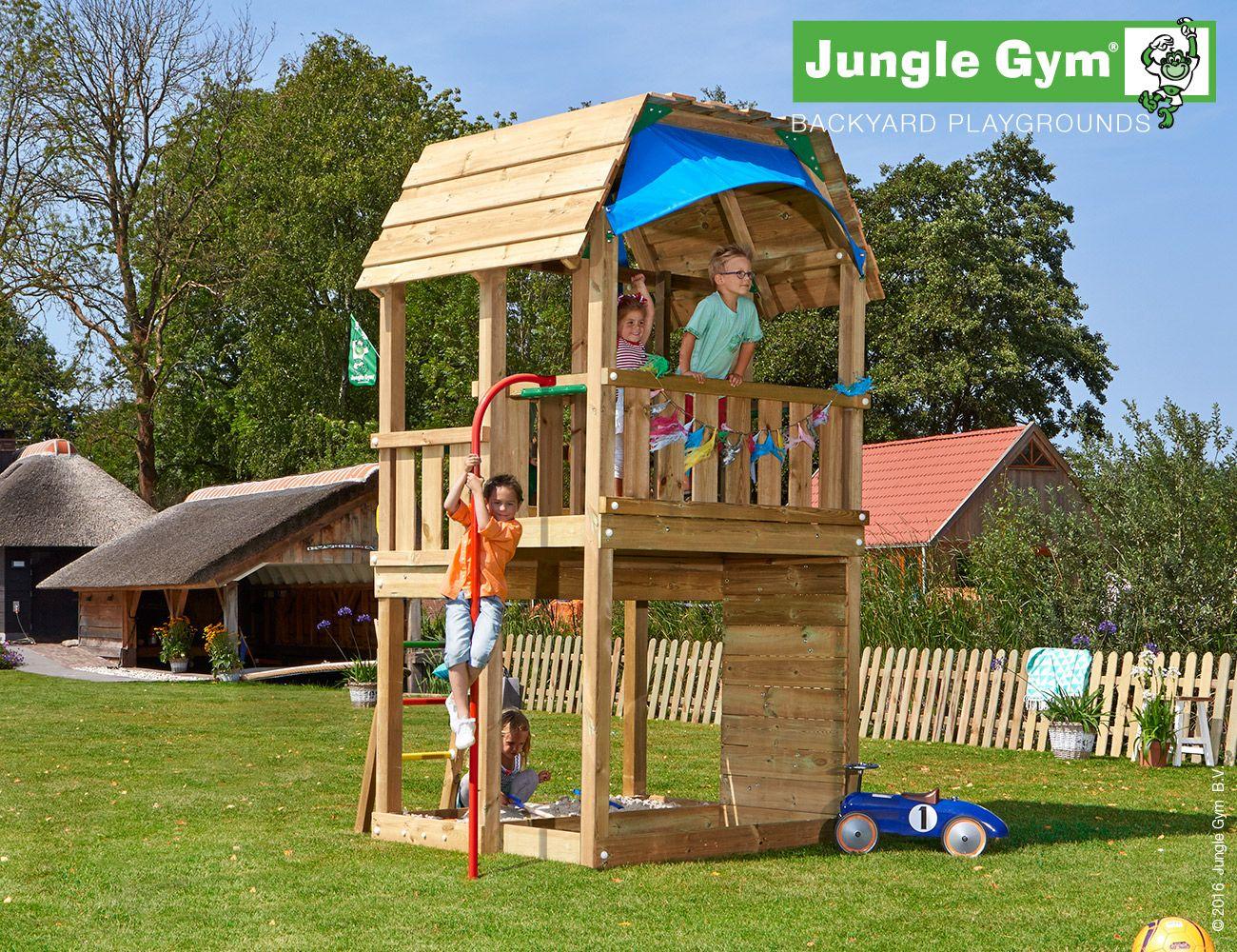 climbing frames for small gardens jungle barn firemans pole