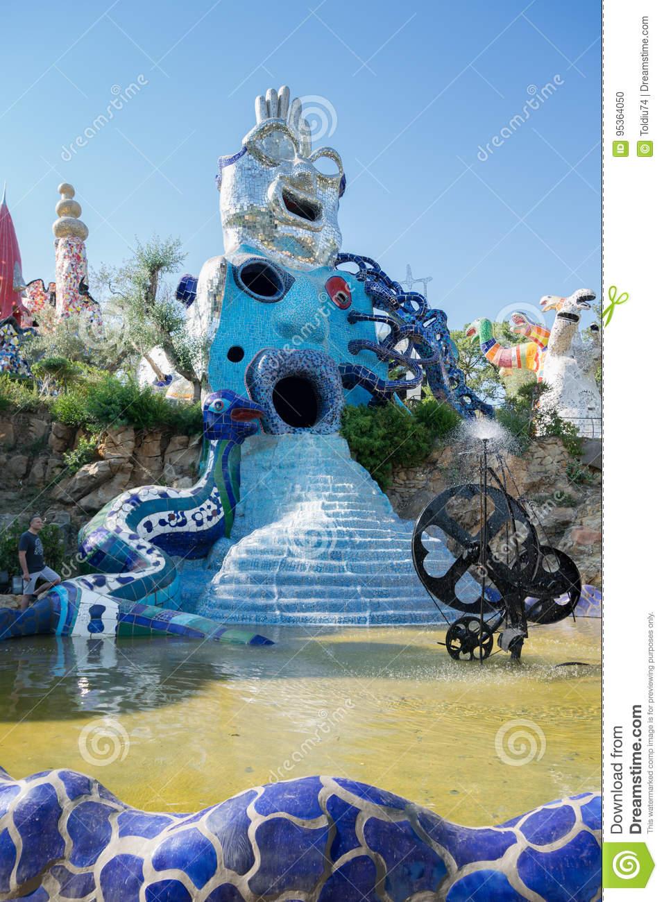 tarot garden sculpture garden based esoteric tar pescia fiorentina italy june created french artist niki