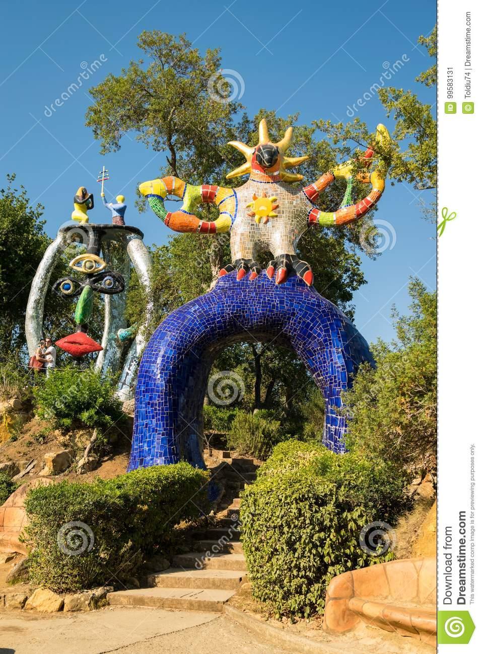 pescia fiorentina italy june tarot garden sculpture based esoteric created french artist niki de saint phalle tar