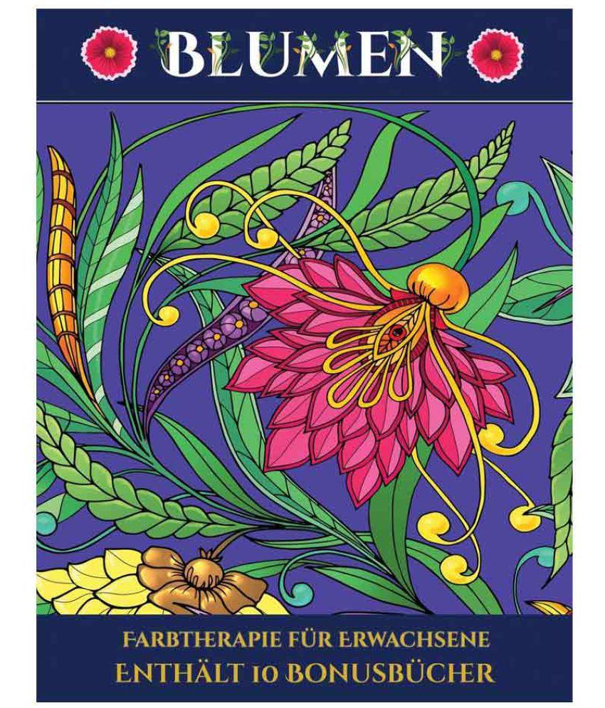 Farbtherapie f r Erwachsene Blumen SDL 1