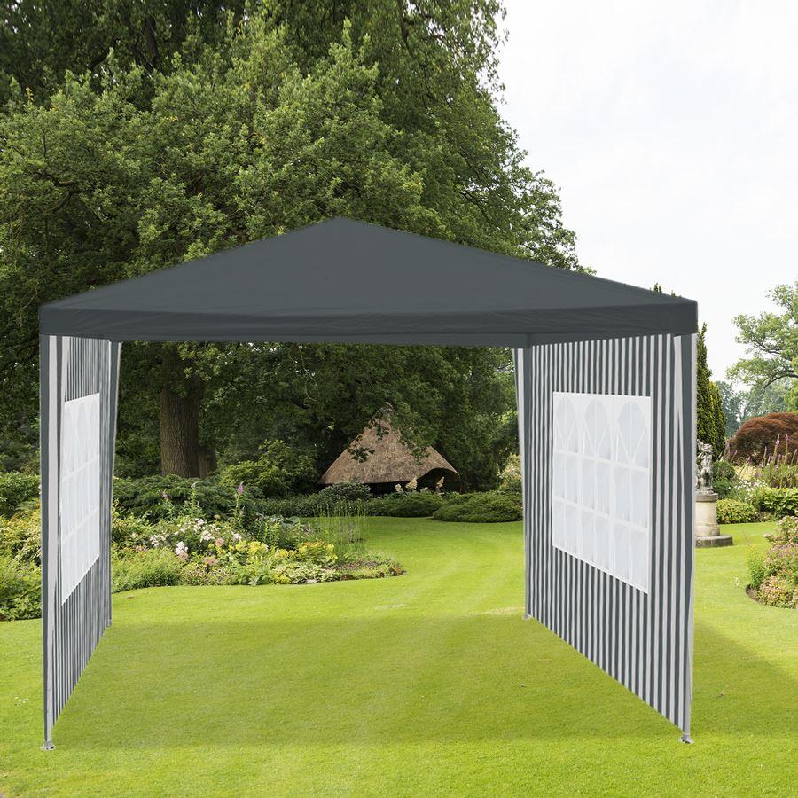 Thomas Philipps Onlineshop De Haus Und Garten Genial Steckpavillon 3x3m Mit 2 Seitenteilen Grau Weiß