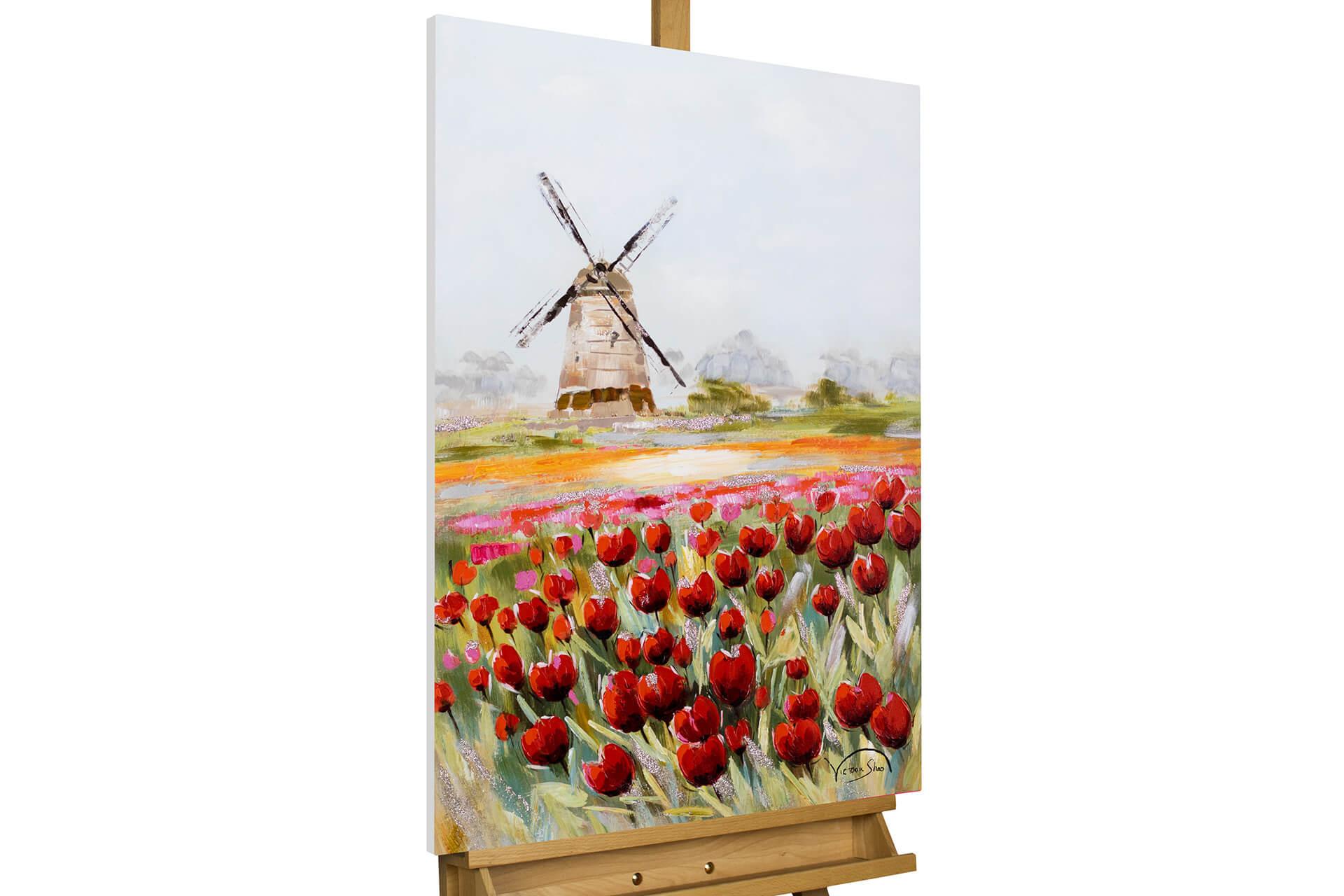 kl tuplen blumen holland natur modern acryl gemaelde oel bild 02