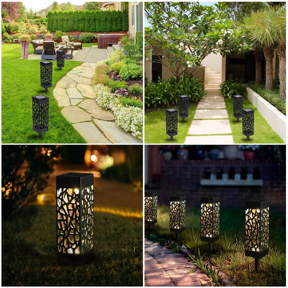 Wegeleuchten Garten Best Of 4 Stück Warmweiße solarleuchte Garten solarlampen Für Außen