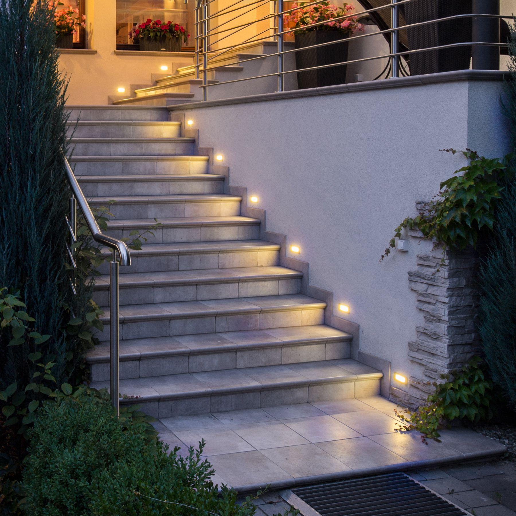 Wegeleuchten Garten Elegant 230v Edelstahl Ip65 Ledeinbauleuchte Lichtfarbe Pikos