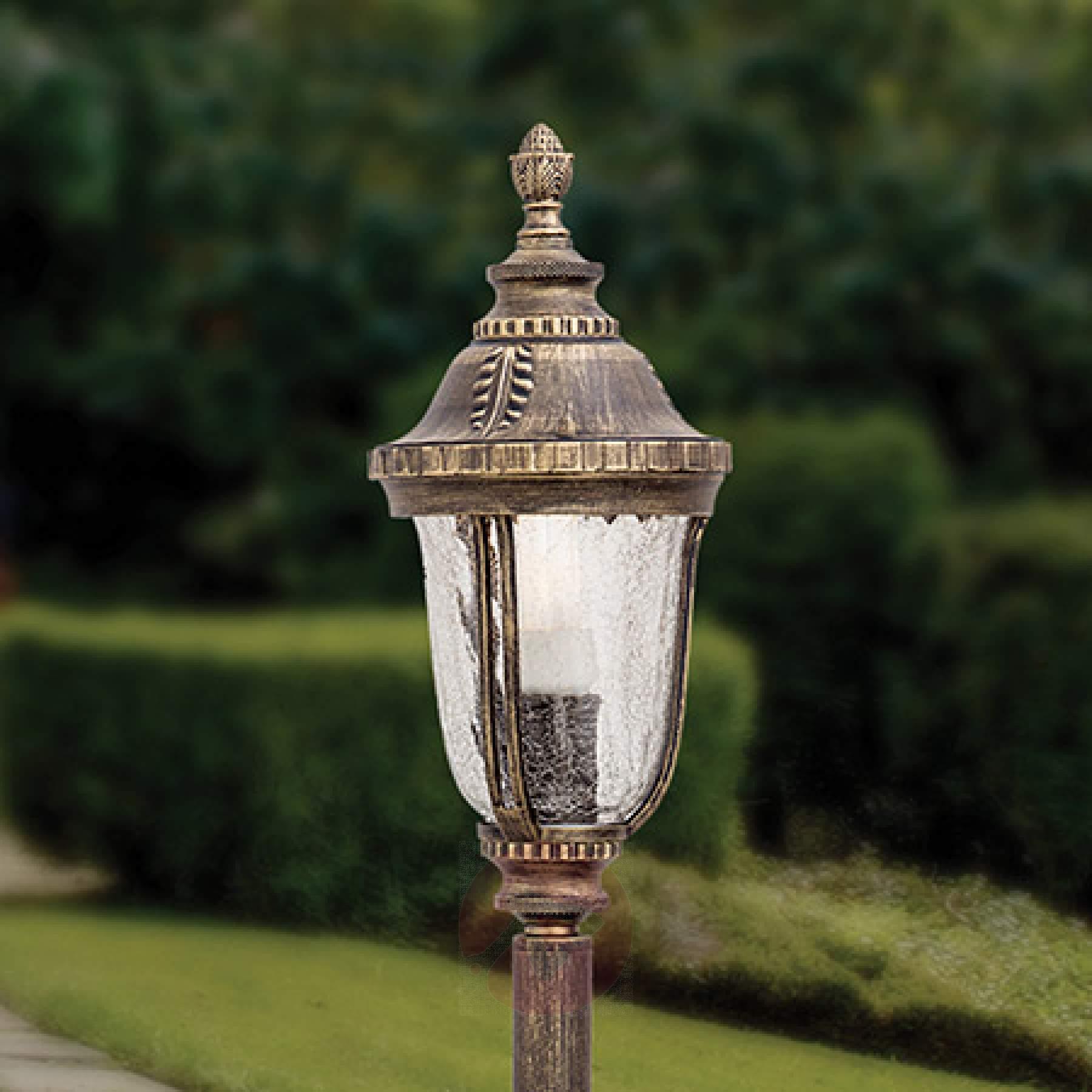 Wegeleuchten Garten Frisch Traditionelle Wegeleuchte Paula Mit Strukturglas