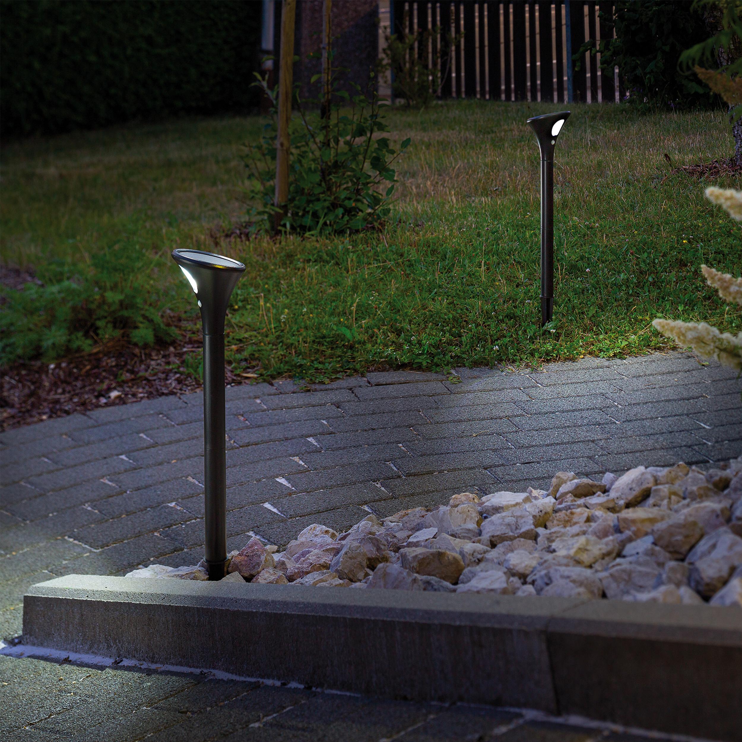 Wegeleuchten Garten Neu solar Sensor Wegeleuchten topspot Im 2er Set