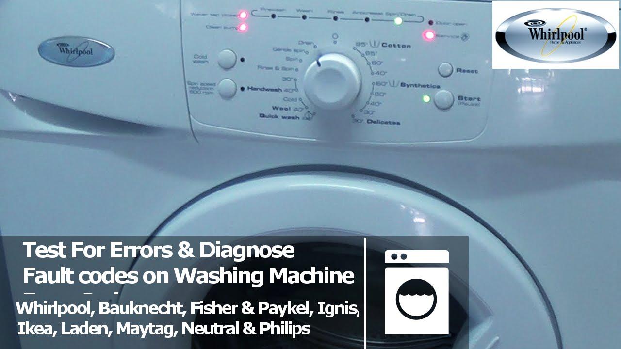 Whirlpool Garten Test Frisch Whirlpool Awo D & Awd Series Washing Machine Error Fault Codes