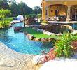 Yakuzi Pool Garten Elegant Backyard Oasis Lazy River Pool with island Lagoon and