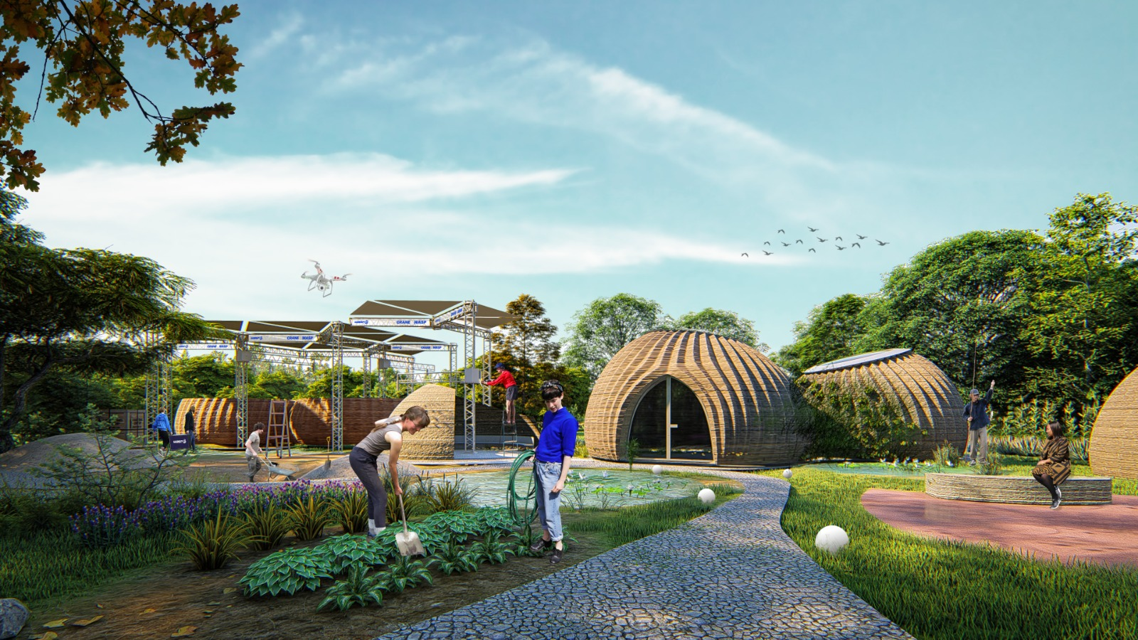 tecla 3d printed habitat by mario cucinella architects and wasp