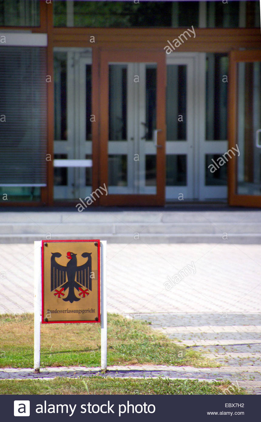 federal constitutional court in karlsruhe germany baden wuerttemberg EBX7H2