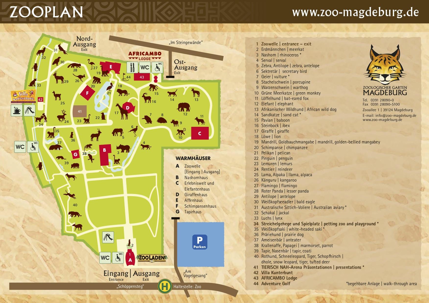 Zoologischer Garten Magdeburg Elegant Anfahrt Lageplan